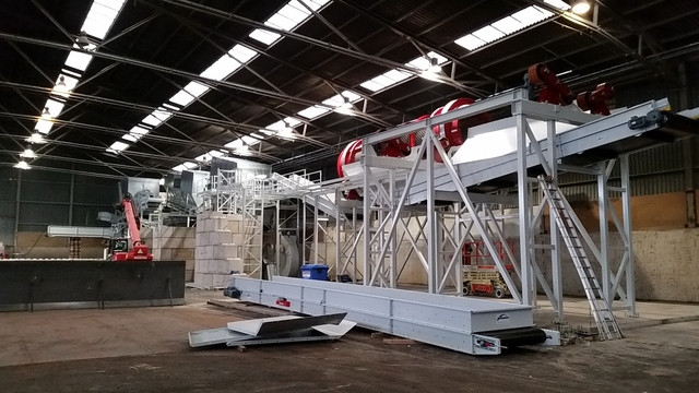Walair Buiding a recycling installation